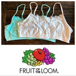 ❤️V-DAY DEAL❤️2 Fruit of the Loom Cami Bras